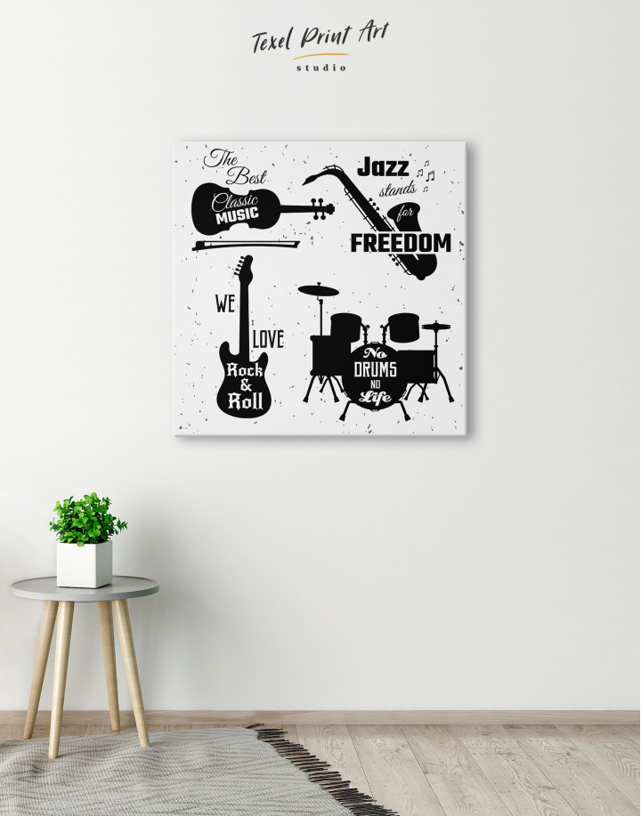 Music Style Quotes Canvas Wall Art