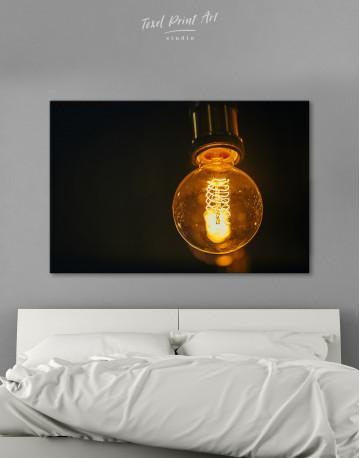 Tungsten Light Bulb Lamp Canvas Wall Art