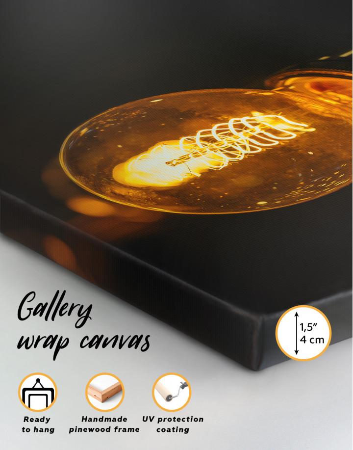 Tungsten Light Bulb Lamp Canvas Wall Art - Image 8