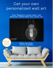 Tungsten Light Bulb Lamp Canvas Wall Art - Image 7