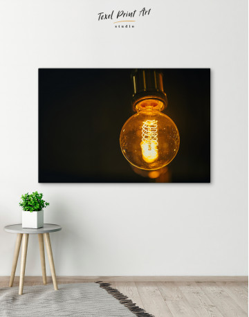 Tungsten Light Bulb Lamp Canvas Wall Art - image 6