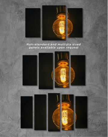 Tungsten Light Bulb Lamp Canvas Wall Art - image 5
