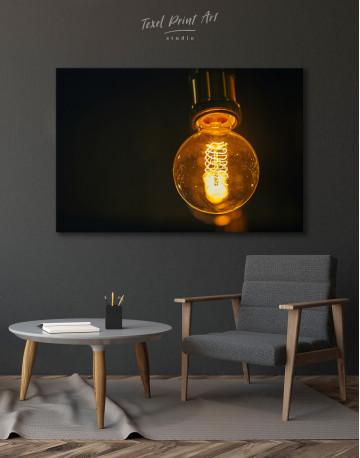 Tungsten Light Bulb Lamp Canvas Wall Art - image 4