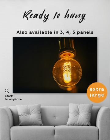 Tungsten Light Bulb Lamp Canvas Wall Art - image 1