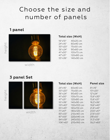 Tungsten Light Bulb Lamp Canvas Wall Art - image 3