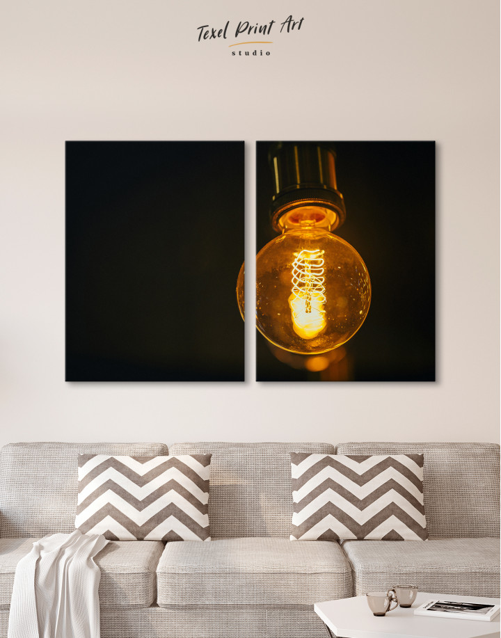Tungsten Light Bulb Lamp Canvas Wall Art - Image 10