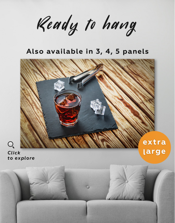Old Fashioned Cocktail Canvas Wall Art - Image 4