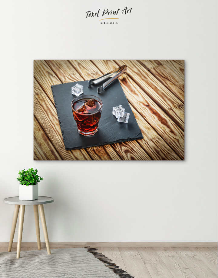 Old Fashioned Cocktail Canvas Wall Art - Image 1