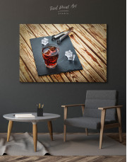 Old Fashioned Cocktail Canvas Wall Art