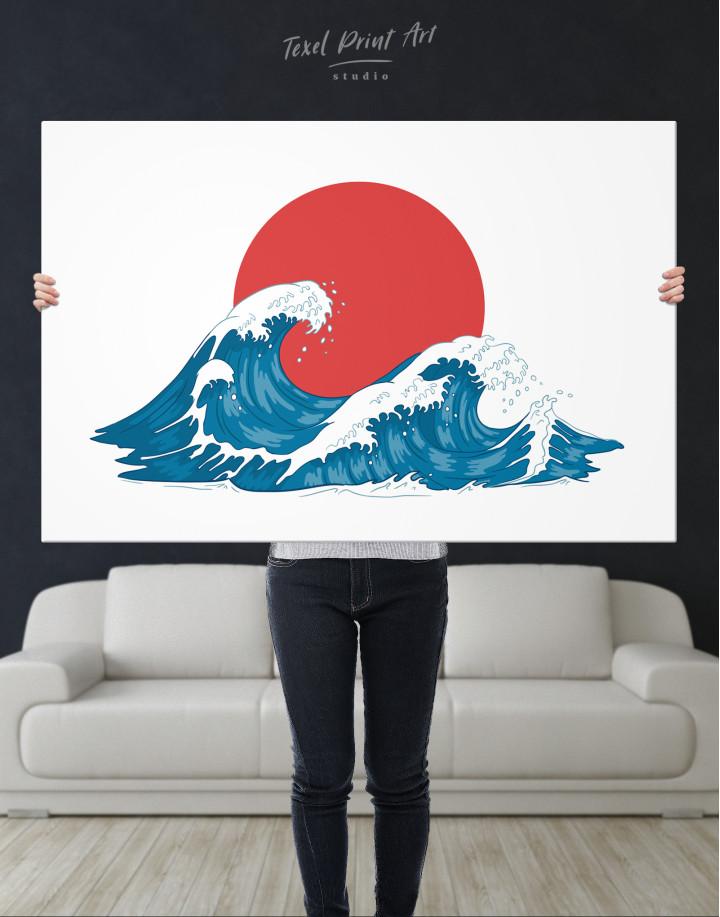 Japanese Waves Canvas Wall Art - Image 5
