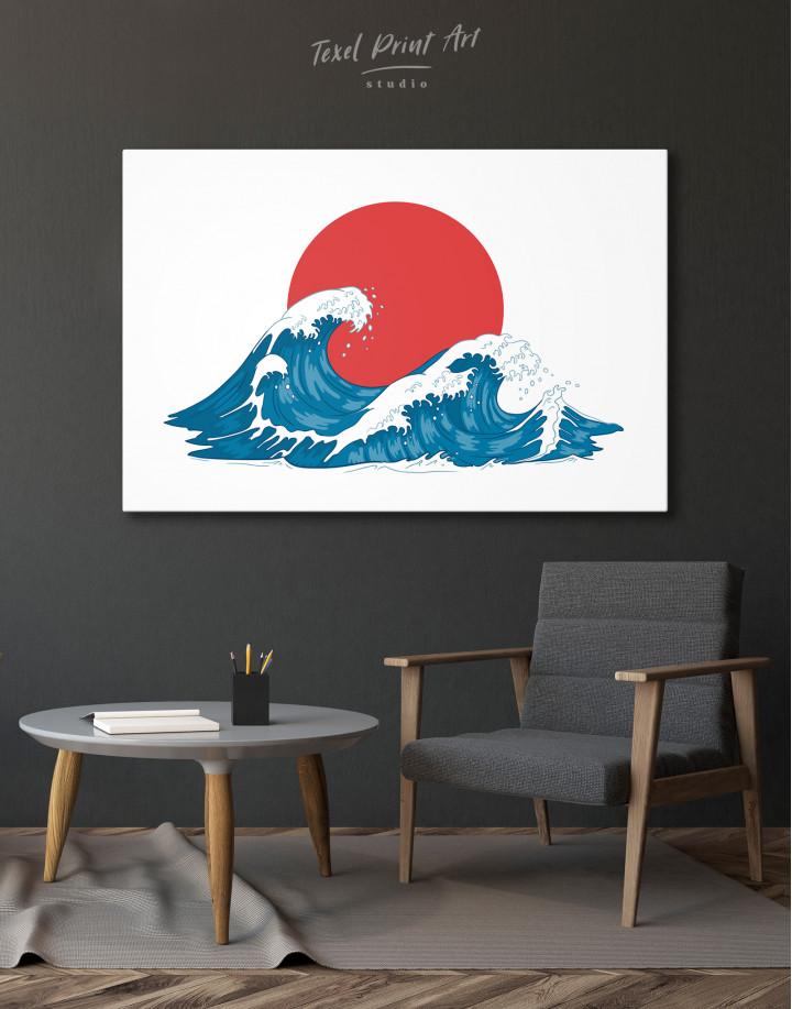 Japanese Waves Canvas Wall Art