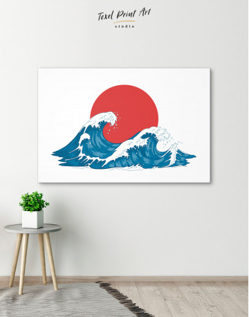 Japanese Waves Canvas Wall Art - image 1