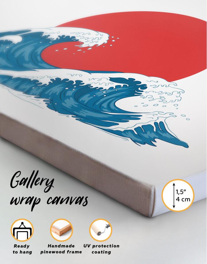 Japanese Waves Canvas Wall Art - Image 4