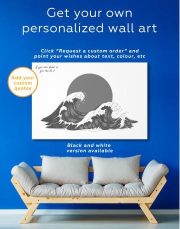 Japanese Waves Canvas Wall Art - image 2
