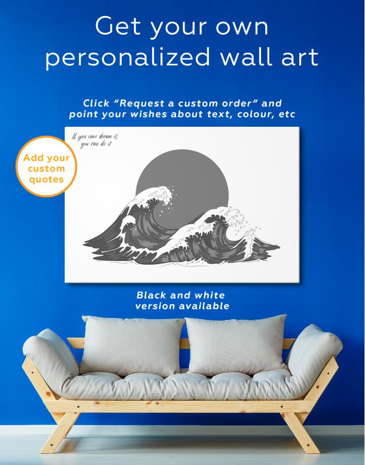 Japanese Waves Canvas Wall Art - Image 6