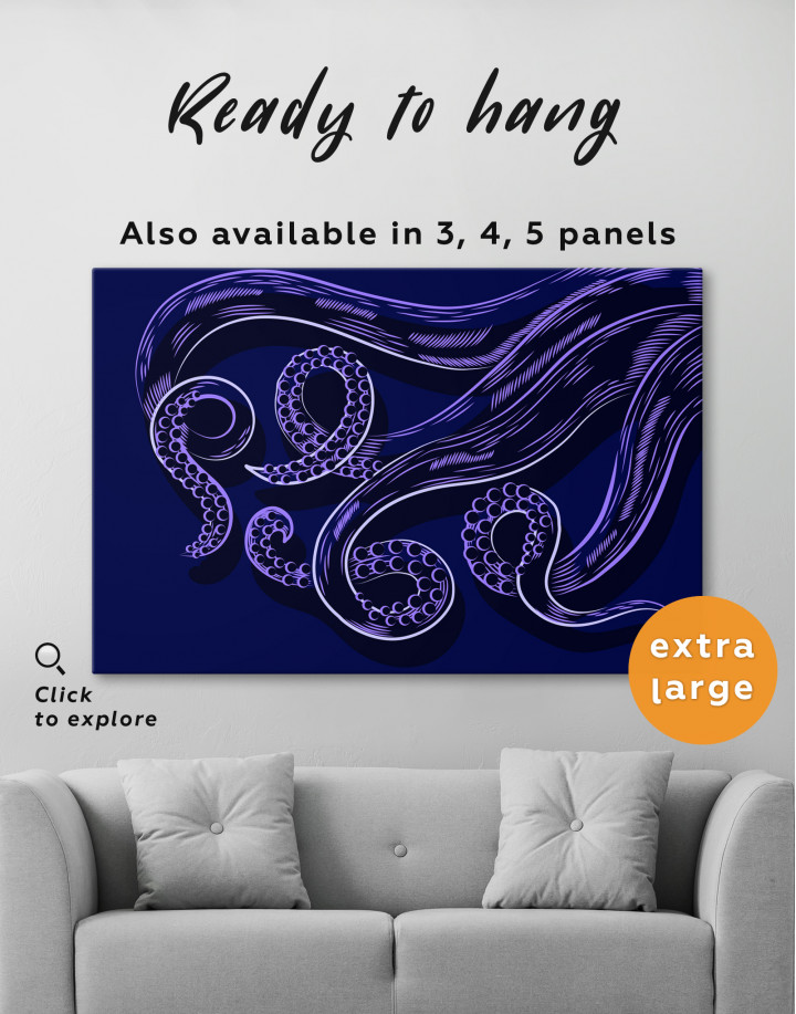 Abstract Octopus Tentacles Canvas Wall Art