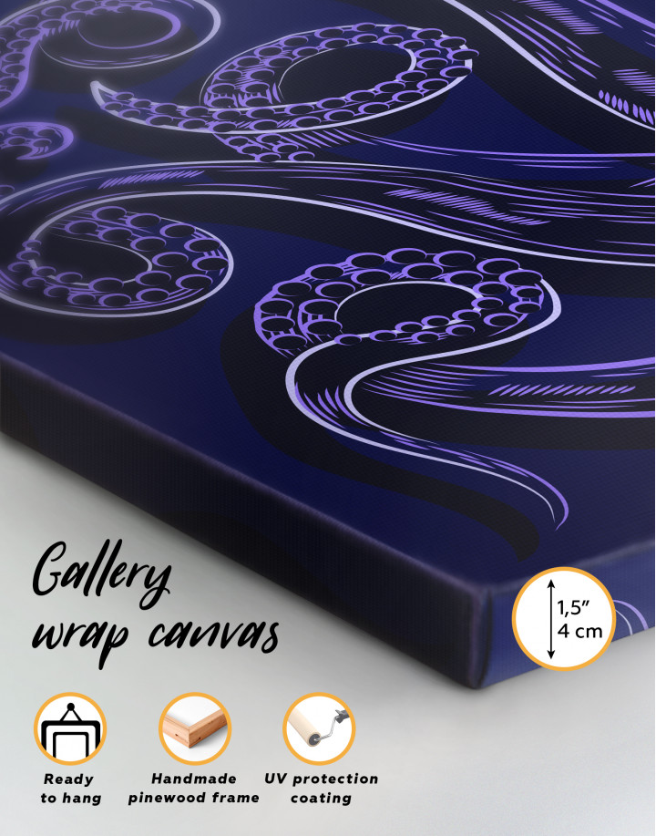 Abstract Octopus Tentacles Canvas Wall Art - Image 1