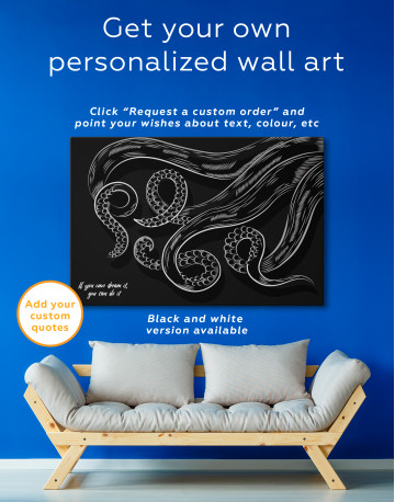 Abstract Octopus Tentacles Canvas Wall Art - image 4