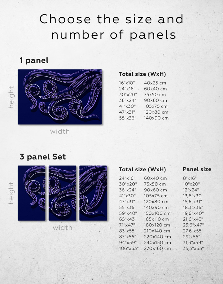 Abstract Octopus Tentacles Canvas Wall Art - Image 5