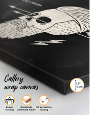 Black and White Barber Skull Canvas Wall Art - Image 6