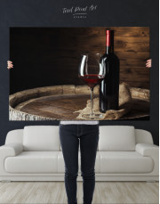 Bottle of Wine Photography Canvas Wall Art - Image 7