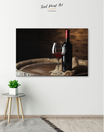 Bottle of Wine Photography Canvas Wall Art