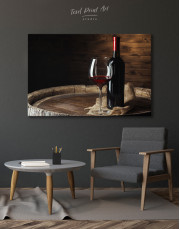 Bottle of Wine Photography Canvas Wall Art - Image 3