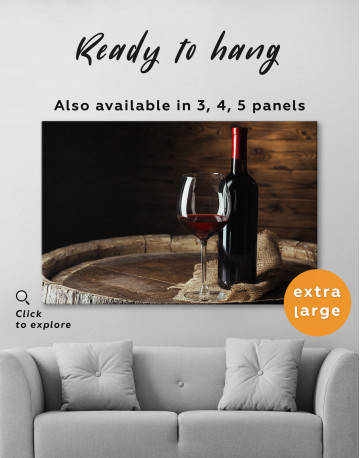 Bottle of Wine Photography Canvas Wall Art - image 5