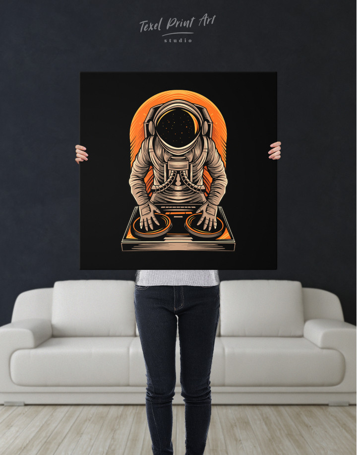 Astronaut Music Dj Canvas Wall Art - Image 2