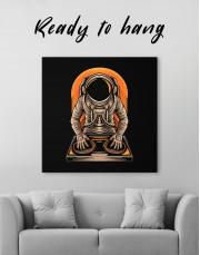 Astronaut Music Dj Canvas Wall Art - Image 1