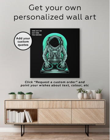 Astronaut Music Dj Canvas Wall Art - image 3
