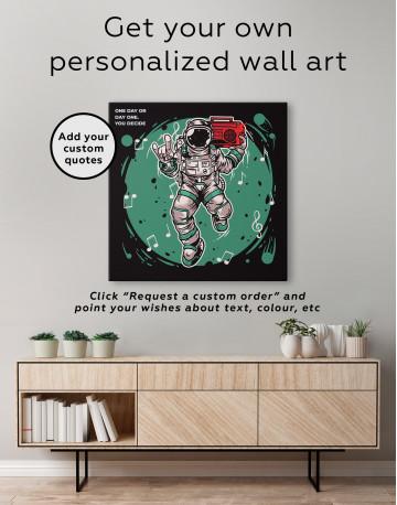 Dancing Astronaut Canvas Wall Art - image 3