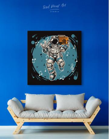 Dancing Astronaut Canvas Wall Art - image 6