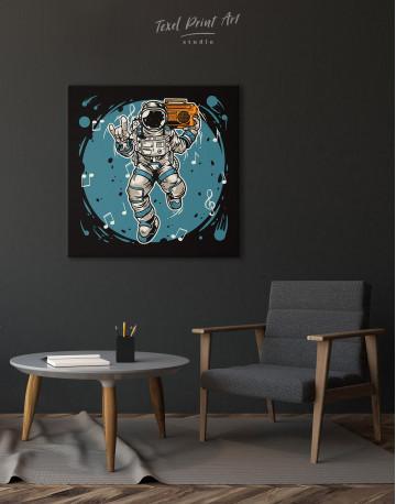 Dancing Astronaut Canvas Wall Art - image 5