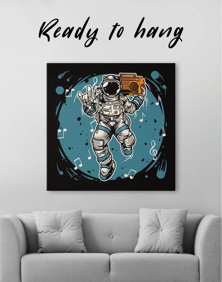 Dancing Astronaut Canvas Wall Art