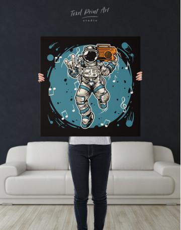 Dancing Astronaut Canvas Wall Art - image 2
