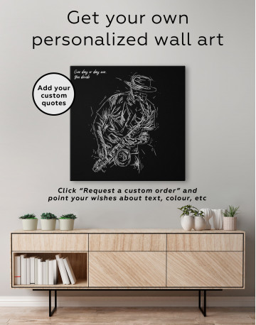 Abstract Jazz Saxophone Player Canvas Wall Art - image 5