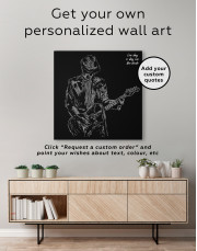 Abstract Guitar Player Canvas Wall Art - Image 3