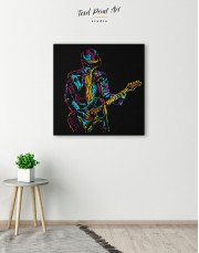 Abstract Guitar Player Canvas Wall Art - Image 5