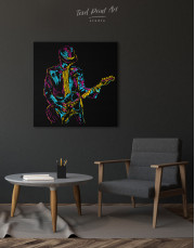 Abstract Guitar Player Canvas Wall Art - Image 1