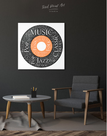 Vinyl Record With Music Styles Canvas Wall Art - image 4