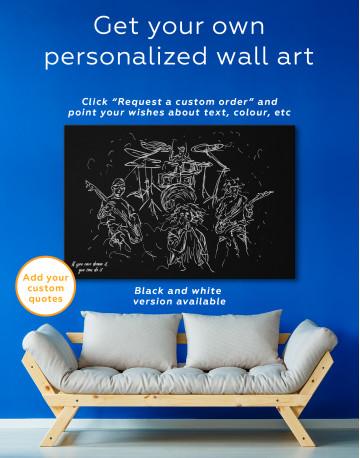 Abstract Music Band Canvas Wall Art - image 7