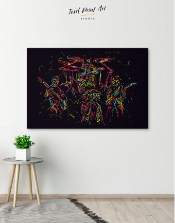 Abstract Music Band Canvas Wall Art - image 6