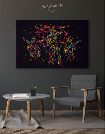 Abstract Music Band Canvas Wall Art - image 4