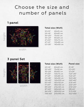 Abstract Music Band Canvas Wall Art - image 2