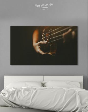 Acoustic Guitar Canvas Wall Art