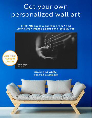 Acoustic Guitar Canvas Wall Art - image 7