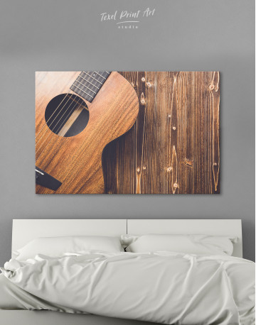Old Wooden Guitar Canvas Wall Art