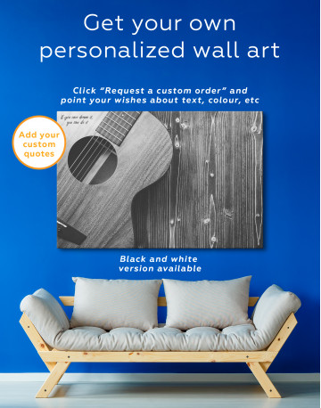 Old Wooden Guitar Canvas Wall Art - image 5