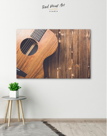 Old Wooden Guitar Canvas Wall Art - image 4